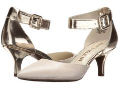 Anne Klein Fabulist In Silver/ivory Synthetic Bridal Shoes, Wedding Shoes, Wrap Heels, Anne Klein, Comfortable Shoes, Pumps, Shoes Heels, Kitten Heels, High Heels