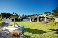 This incredible home designed by Cliff May has been on the market for a while, so for those architecture buffs out there this is probably ol...