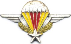 CENTRAL AFRICAN EMPIRE Airborne Parachute qualification wings, 1970s, ***RARE*** African Empires, Paratrooper, African Countries, Special Forces, Beret, Badges, Patches, Wings, History