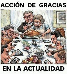 The New Thanksgiving Gathering, yup , vertually everyone on a device!now what would Norman Rockwell think of this ? Satire, Caricatures, Tech Humor, Spanish Memes, Ap Spanish, Humor Grafico, Double Take, Norman Rockwell, Image Hd