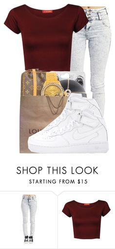 """""""."""" by ray-royals ❤ liked on Polyvore featuring moda, Wet Seal, Influence y NIKE"""