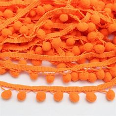 Red Yalulu 20 Yards Mini Triangle Pom Pom Trim Ball Fringe Ribbon Tassel DIY Sewing Lace for Clothing Curtain Pillow Accessory Decoration