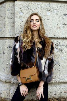 The Blonde Salad by Chiara Ferragni Fashion Mode, Fur Fashion, Womens Fashion, Fashion Trends, Estilo Blogger, Estilo Grunge, The Blonde Salad, Street Style, Ballerinas