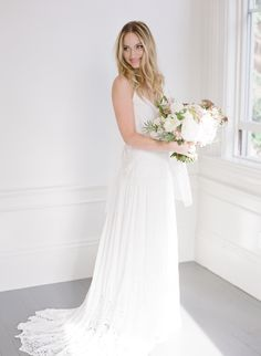 Wedding Dress : Rue De Seine | Photography : Lucy Cuneo Photography Read More on SMP: http://www.stylemepretty.com/2016/03/07/intimate-coastal-california-wedding-in-autumn/