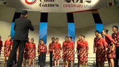 """Toki Tifa dan Gundul Pacul"" - di World Choir Games, Cincinnati Ohio, US..."