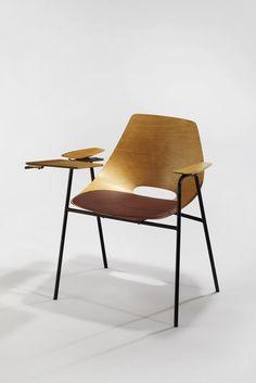 Pierre Guariche, Chair with Desk Tablette, 1954