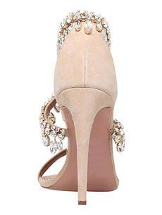 AQUAZZURA Milla Jewel 105 suede heeled sandals Shoe Department, Heeled Sandals, Suede Heels, Aquazzura, Jewels, Summer, Stuff To Buy, Shopping, Shoes