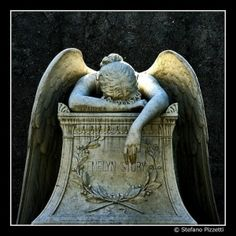 Angel of Grief Cemetery Statue Cemetery Angels, Cemetery Statues, Cemetery Art, Angels Among Us, Angels And Demons, Statue Ange, Steinmetz, I Believe In Angels, Ange Demon