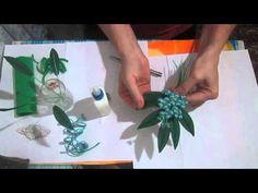 """Цветы из ткани (2 часть) Бутоньерка к платью """"Фиалка""""(мастер класс)"""