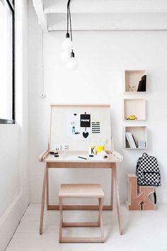 Muebles para niños: K Desk and X Stool por Rafa-kids