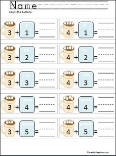 This is a FREE marshmallow addition activity.  Students count the marshmallows to practice addition.  This is great for Kindergarten and early 1st grade.  Looks great printed in color or black and white.