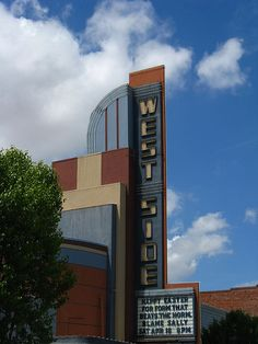 West Side Theatre - glorious Art Deco sign in Newman, California