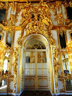 The Catherine Palace is a Rococo palace located in the town of Tsarskoye Selo.  It was summer residence of the Russian tsars.