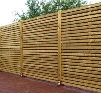 Contemporary Wooden Slatted Fence Panel. This contemporary panel is a strong and sturdy fence panel from Grange and has elegant lines which make for an attractive option for your garden boundary. Made with FSC certified pressure treated planed timber £83.64. #ContemporaryFencePanels #GardenFencePanels #AWBS