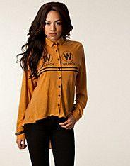 Wildfox Cruise Shirt - Wildfox - Gold - Tops