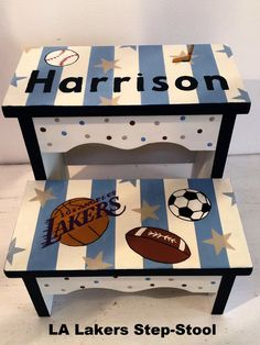 LA Lakers Baby Step Stool - Baby's Breath and Holly
