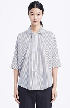 Marni Stripe Cotton Blouse available at #Nordstrom