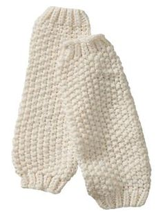 Knit leg warmers for little girls