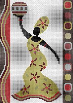 0 point de croix femme africai