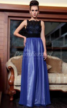 Chiffon Scoop Long Party Dress