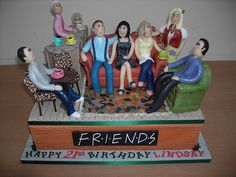 WHAT?! SO COOL. Friends cake by Sharon Forbes, via Flickr