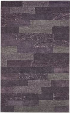 Plum Gray Large Area Rug | Nuloom Modella Blocks Plum Area Rug