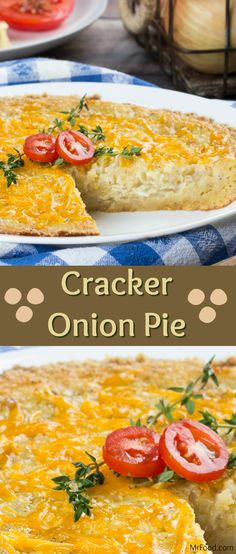 Half dip, half side dish, our Cracker Onion Pie is a favorite no matter how you serve it! With a crispy cracker crust, and a cheesy onion filling, you can bet that this pie won't be left untouched!