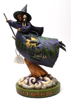 $50.00-$50.00 Jim Shore Halloween Witch on Broom with Cloud Figurine - A spooky Halloween witch flying on her broom and named 'I Put A Spell on You'. http://www.amazon.com/dp/B000CS1V4E/?tag=pin2wine-20