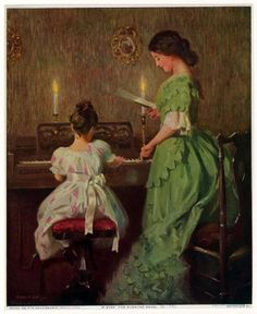 Learning Piano As An Adult Book Referral: 8981209304 Music Pics, Art Music, Music Pictures, Music Painting, Munier, Piano Art, Playing Piano, Victorian Art, Beautiful Paintings