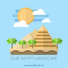 Flat egypt landscape