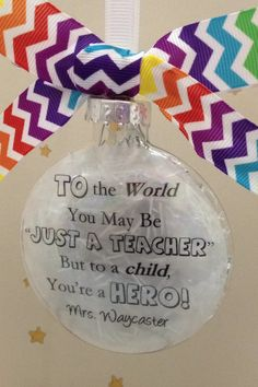Best Teacher Gift To The World You May Be by ShopCreativeCanvas