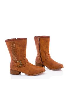 Boots Up to 80% Off - Beyond the Rack Biker boots (tan)