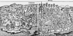 A woodcut of Florence in 1493
