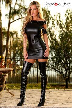 Mini vestido polipiel Tallas S-M, L-XL
