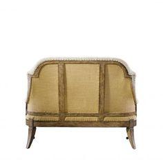 58 Deconstructed Sofa Hemp Back Linen Solid Wood Frame Furniture for The Ages | eBay