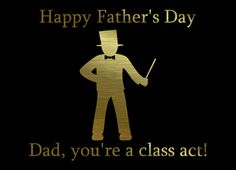 Happy Father's Day Dad in suit, classy Dad. Greeting Card