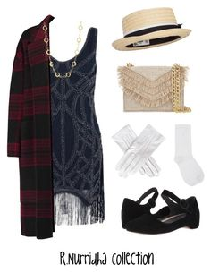 """""""100 Years of Fashion : 1920"""" by rizkinurridhaa on Polyvore featuring Rochas, Cynthia Rowley, Black, Camper and M&Co"""