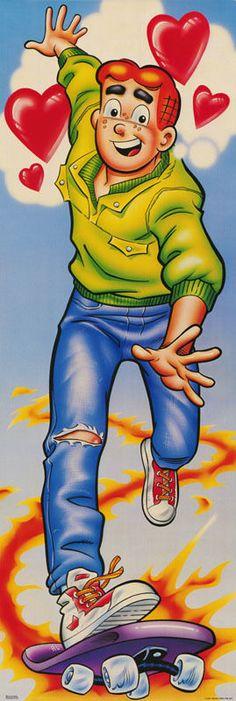 Door Poster Comics Archie Comics Archie on Skateboard Free SHIP RAP5 C   eBay