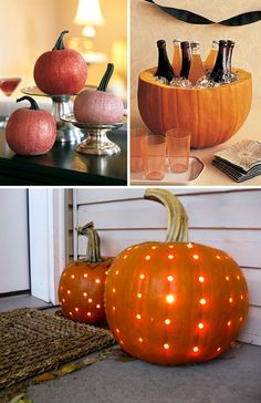 Pumpkins - fall wedding this could be really cute! fun and different depending on how ok you are with the pumpkins