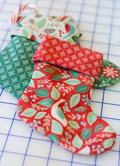 The Shabby: How to Make Mini Stockings: A Quick and Easy Tutorial