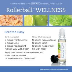 Breathe Easy :: Rollerball WELLNESS Make & Take Workshop Kit #essentialoils…