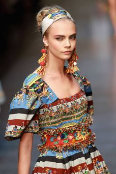 33 models who have perfected the runway stare: Cara Delevingne