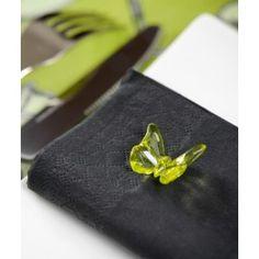 Perle papillon transparent vert anis 2 cm les 10, baby shower, idée déco, baptême, anniversaire, birthday party.
