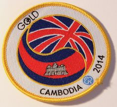 Fund-raising badge for a Guide doing her Gold Duke of Edinburgh expedition to Cambodia