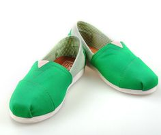 2013 New Toms Womens stripe shoes Green