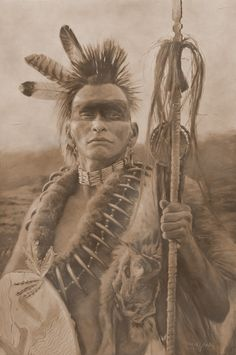 Pawnee brave /// The superficial resemblance to the dress of native people in Borneo and other islands is amazing, and gives you an idea of their possible migration pattern millennia ago. AC