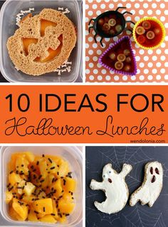 10 ideas for fun Halloween lunches -- some require a little effort, but most are super easy