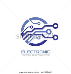 Modern electronic technology - vector logo concept illustration for corporate identity. Digital creative symbol. Abstract computer chip sign. Design element.