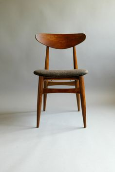 Mid Century Sculptural 60s Danish Style Walnut Teak Chair.
