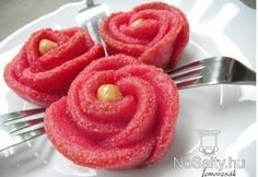 Flavor Scrubs for Elif Mode: Irrigated red roses with syrup Hungarian Recipes, Hungarian Food, Onion Rings, High Tea, Red Roses, Candy, Ethnic Recipes, Sweet, Tea Ideas